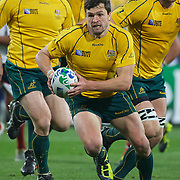 Adam Ashley-Cooper, Australia, in action during the Australia V USA, Pool C match during the IRB Rugby World Cup tournament. Wellington Stadium, Wellington, New Zealand, 23rd September 2011. Photo Tim Clayton...