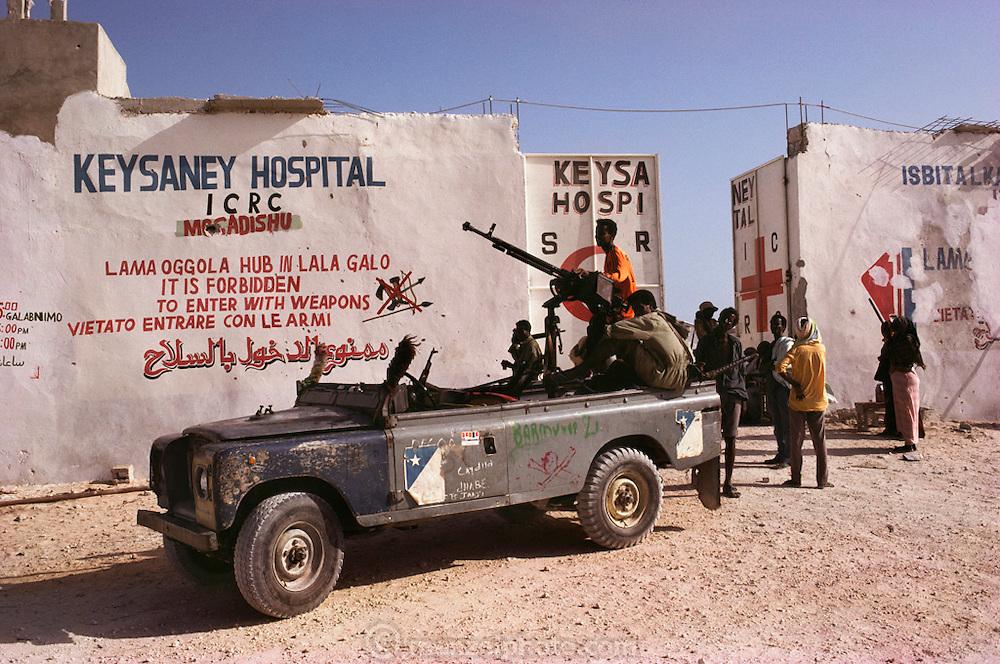 International Red Cross run Keysaney Hospital in Mogadishu, the war-torn capital of Somalia. March 1992.