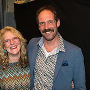 NLD/Amsterdam/20190228 - inloop Amsterdamse première musical Soof, Jan Bonninkreef en partner