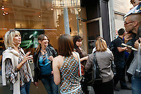 For a Frugal Paris story by Matt Gross..a vernissage (art opening) near Pigalle, Paris 9....photograph by Owen Franken for the NY Times..June 13, 2009..