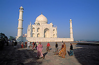 Inde. Uttar Pradesh. Agra. Taj Mahal. Mausolée de Mumtaz Mahal // Mumtaz Mahal mausoleum. Taj Mahal. Agra. India.