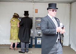 © Licensed to London News Pictures. 19/06/2014. Ascot, UK Day three, Ladies Day, at Royal Ascot 19th June 2014. Royal Ascot has established itself as a national institution and the centrepiece of the British social calendar as well as being a stage for the best racehorses in the world. Photo credit : Stephen Simpson/LNP