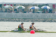 St Catherines, CANADA,  Women's Double Sculls LYU W2X Kristina POPLAVSKAJA and Birute SAKICKIENE, competing at the 1999 World Rowing Championships - Martindale Pond, Ontario. 08.1999..[Mandatory Credit; Peter Spurrier/Intersport-images]  .. 1999 FISA. World Rowing Championships, St Catherines, CANADA