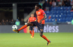 August 16, 2017 - Medipol Basaksehir's Emmanuel Adebayor during Medipol Basaksehir - Sevilla UEFA Champions League Play - Off 1st round game at Istanbul Fatih Terim Stadium, 16th August, 2017. (Credit Image: © Tolga Adanali/Depo Photos via ZUMA Wire)