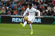 Leroy Fer of Swansea city in action. Premier league match, Swansea city v Burnley at the Liberty Stadium in Swansea, South Wales on Saturday 4th March 2017.<br /> pic by Andrew Orchard, Andrew Orchard sports photography.