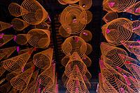 Incense coils, Thien Hau Temple, Chinatown, Ho Chi Minh City (Saigon), Vietnam.