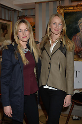 Left to right, LUCIA RUCK KEENE and ROSIE RUCK KEENE at a ladies lunch hosted by Katie Readman for sisters Lucia & Rosie Ruck Keene founders of a new fashion label - Troy, held at 5 Hertford Street, London on 27th January 2015.