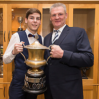 Manager Martin Morrissey with his Son Jack