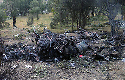 June 1, 2017 - Wreckage of an helicopter in Sirnak Province, Turkey. Turkish Maj. Gen. Aydogan Aydin died in a military helicopter crash which killed 13 soldiers in Turkey's southeastern province of Sirnak, local media reported Thursday.  lrz) (Credit Image: © Xinhua via ZUMA Wire)