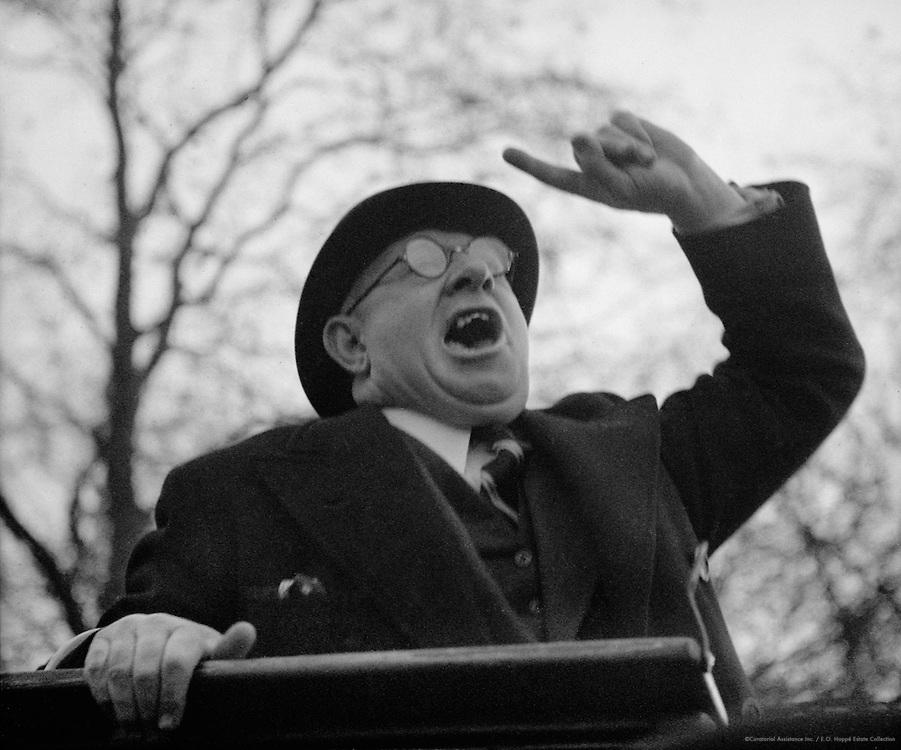 Hyde Park, Orators, London, 1937