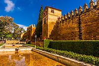 Old City Walls, Cordoba, Cordoba Province, Andalusia, Spain.