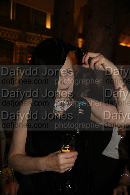 Vivienne Westwood, Party to celebrate the Christian Lacroix Fashion in Motion fashion show and the opening of  M/M Paris: Antigone Under Hypnosis part of  Paris Calling the UK-wide celebration of contemporary French culture. V. & A. London. 31 October 2006. -DO NOT ARCHIVE-© Copyright Photograph by Dafydd Jones 66 Stockwell Park Rd. London SW9 0DA Tel 020 7733 0108 www.dafjones.com