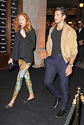 © Licensed to London News Pictures. 14/09/2013. LONDON. UK. Lily Cole & David Gandy, Longchamp - Flagship Store Launch Party, Regent Street, London UK, 14 September 2013. Photo credit : Brett D. Cove/Piqtured/LNP