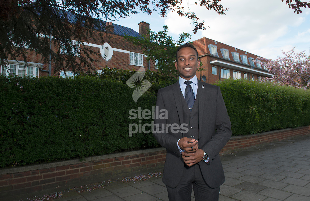 Second generation immigrant Shaun Dias who will vote Conservative at the upcoming general election.<br /> Picture by Daniel Hambury/Stella Pictures Ltd +44 7813 022858<br /> 28/04/2015