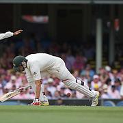 Mitchell Johnson is bowled by Danish Kaneria during the Australia V Pakistan 2nd Cricket Test match at the Sydney Cricket Ground, Sydney, Australia, 5 January 2010. Photo Tim Clayton