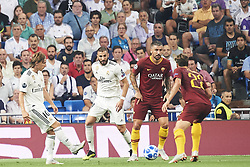 September 19, 2018 - Madrid, Spain - Luka Modric (midfielder; Real Madrid) in action during the UEFA Champions League match between Real Madrid and AS Roma at Santiago Bernabeu on September 19, 2018 in Madrid, Spain (Credit Image: © Jack Abuin/ZUMA Wire)