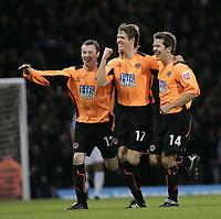 Fotball<br /> England 2004/2005<br /> Foto: SBI/Digitalsport<br /> NORWAY ONLY<br /> <br /> Coca Cola Championship<br /> 03/01/2005<br /> <br /> West Ham v Sheffield United<br /> <br /> Leigh Bromby celebrates after scoring.