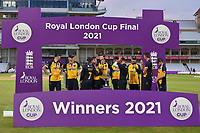 Cricket - 2021 Royal London 50-over Cup - Final - Glamrogan vs Durham - Trent Bridge<br /> <br /> Glamorgan players wait for the trophy lift.<br /> <br /> COLORSPORT/Ashley Western