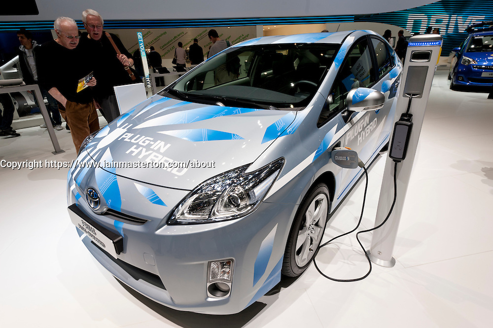 Toyota Prius plug-in Hybrid car at the Geneva Motor Show 2011 Switzerland