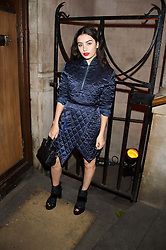 CHARLI XCX at the Veuve Clicquot Widow Series launch party hosted by Nick Knight and Jo Thornton MD Moet Hennessy UK held at The College, Central St.Martins, 12-42 Southampton Row, London on 29th October 2015.