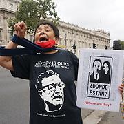Protest against Chilean Sebastian Piñera meeting Boris Johnson