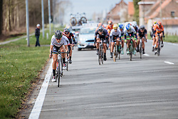 Lizzie Armitstead attacks again as Boels Dolmans 'rain' attacks from on the lead group - Women's Gent Wevelgem 2016, a 115km UCI Women's WorldTour road race from Ieper to Wevelgem, on March 27th, 2016 in Flanders, Belgium.