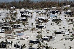 September 13, 2017  - Marathon, Florida, U.S. - Damaged homes and motor homes in the Sunshine Key after Hurricane Irma.  (Credit Image: © Sun-Sentinel via ZUMA Wire)
