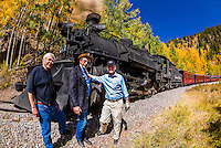 Governor John Hickenlooper (of Colorado) visit aboard the Cumbres & Toltec Scenic Railroad, from Antonito to Osier, Colorado.