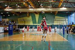 Monika Potokar of Nova KBM Branik Maribor during volleyball match between Calcit Kamnik and Nova KBM Branik Maribor in second game of Slovenia National Championship Final, on March 27, 2012 at Sportna Dvorana, Kamnik, Slovenia. (Photo By Matic Klansek Velej / Sportida)