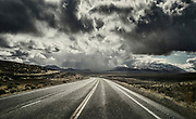 Image of a country road in stormy weather in Nevada, American Southwest by Randy Wells