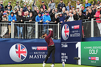 Golf - 2018 Sky Sports British Masters - Thursday, First Round<br /> <br /> Tommy Fleetwood of England tees off at the first hole, at Walton Heath Golf Club.<br /> <br /> COLORSPORT/ANDREW COWIE