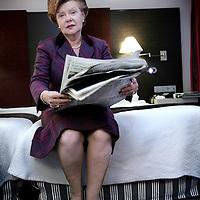 Nederland,Amsterdam ,4 november 2008.Vaira Vike-Freiberga (Riga, 1 december 1937) was de eerste vrouwelijke president van Letland. Zij regeerde Letland van 1999 tot 8 juli 2007, waarna ze werd opgevolgd door Valdis Zatlers..First female president of Latvia,  Vaira Vike-Freiberga (Riga, 1 december 1937) .