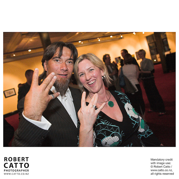 Warren Maxwell;Delia Shanly at the Arts Foundation of New Zealand New Generation Awards at the St James Theatre, Wellington, New Zealand.<br />