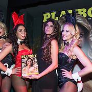 NLD/Amsterdam/20140410 - Presentatie Playboy met Melisa Schaufeli en haar cover en bunnies