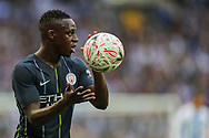 Manchester City defender Benjamin Mendy (22) during the The FA Cup semi-final match between Manchester City and Brighton and Hove Albion at Wembley Stadium, London, England on 6 April 2019.