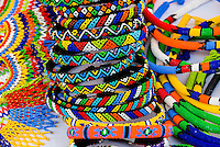 African handicrafts at a street market, Soweto (South Western townships), Johannesburg, South Africa.