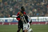 Milano 16-01-2005<br />Campionato  Serie A Tim 2004-2005<br />Milan Udinese<br />nella  foto Antonio Di Natle esultanza<br />Foto Snapshot / Graffiti