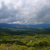 """""""Thunder Ridge""""<br /> <br /> A scenic and stormy spring view of the Blue Ridge Mountains!!<br /> <br /> The Blue Ridge Mountains by Rachel Cohen"""