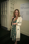 Gillian Anderson, VIP opening of Bill Viola exhibition Love/Death: The Tristan project. Haunch of Venison, St Olave's College, Tooley St. London and Dinner afterwards at Banqueting House. Whitehall. 19 June 2006. ONE TIME USE ONLY - DO NOT ARCHIVE  © Copyright Photograph by Dafydd Jones 66 Stockwell Park Rd. London SW9 0DA Tel 020 7733 0108 www.dafjones.com