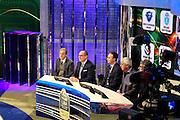Pietro Grignani, Egidio Bianchi, Marco Borroni, Stefano Santini e Gabriele Romagnoli, Presentazione POSTEMOBILE Final Eight 2017 - Rimini 16-19 fabbraio 2017 - studi RAI, Milano 23 gennaio 2017