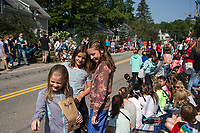 "Up and down Belknap Mountain Road was packed with folks ready to watch the 98th annual Gilford Old Home Day Parade - themed ""Small Town America"" on Saturday morning.  (Karen Bobotas/for the Laconia Daily Sun)"