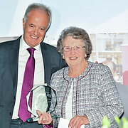 Martin Young Present Winner of Churchill Owner – Joyce Lockwood of the 7th annual Churchill Awards honour achievements of the Over 65's at Claridge's Hotel on 10 March 2019, London, UK.