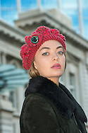 Joely at www.joelylive.com modelling hats for www.gilliantorckler.com new books on hat knitting & crochet design. Photography by www.darryltorckler.co.nz