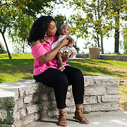 """Baby, It's all right"":  Maternal-Fetal Experts Smooth the Way for Even the Most Challenging Pregnancies.  Editorial photoshoot with Jamila and Zoe Jackson for the Fall 2017 issue of Live Well Magazine in Diamond Bar, California on July 22, 2017.  ©Moontide Media.  Photography by Michael Der"