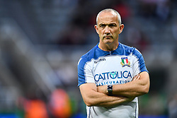 Head Coach Conor O'Shea of Italy during the pre match warm up<br /> <br /> Photographer Craig Thomas/Replay Images<br /> <br /> Quilter International - England v Italy - Friday 6th September 2019 - St James' Park - Newcastle<br /> <br /> World Copyright © Replay Images . All rights reserved. info@replayimages.co.uk - http://replayimages.co.uk