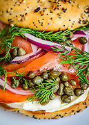 Rye's Lox on an everything bagel.