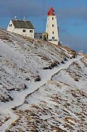 Hornøya Island lighthouse, today an ecotourism lodging place, Varanger Peninsula, Norway, Scandinavia