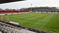 General ground view during the EFL Sky Bet League 2 match between Stevenage and Cheltenham Town at the Lamex Stadium, Stevenage, England on 20 April 2021.