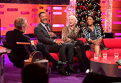 (left to right) Graham Norton, Will Smith, Dame Helen Mirren and Naomie Harris appearing on the Graham Norton Show filmed at the London Studios. London, which will be transmitted on BBC One on December 23.