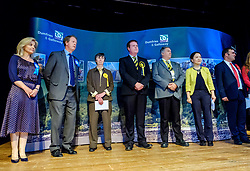 General Election 2017 Dumfries Count :: Dumfries and Galloway constituency Candidates line up prior to the result<br /> <br /> (c) Andrew Wilson | Edinburgh Elite media